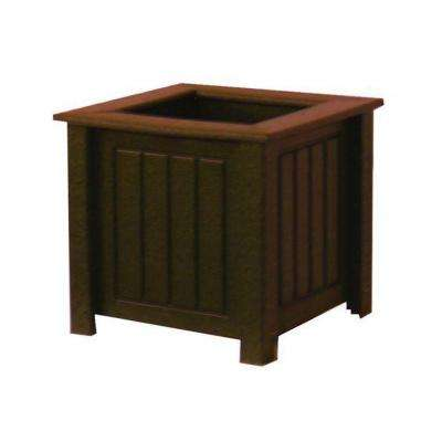 North Hampton 12 in. x 12 in. Brown Recycled Plastic Commercial Grade Planter Box