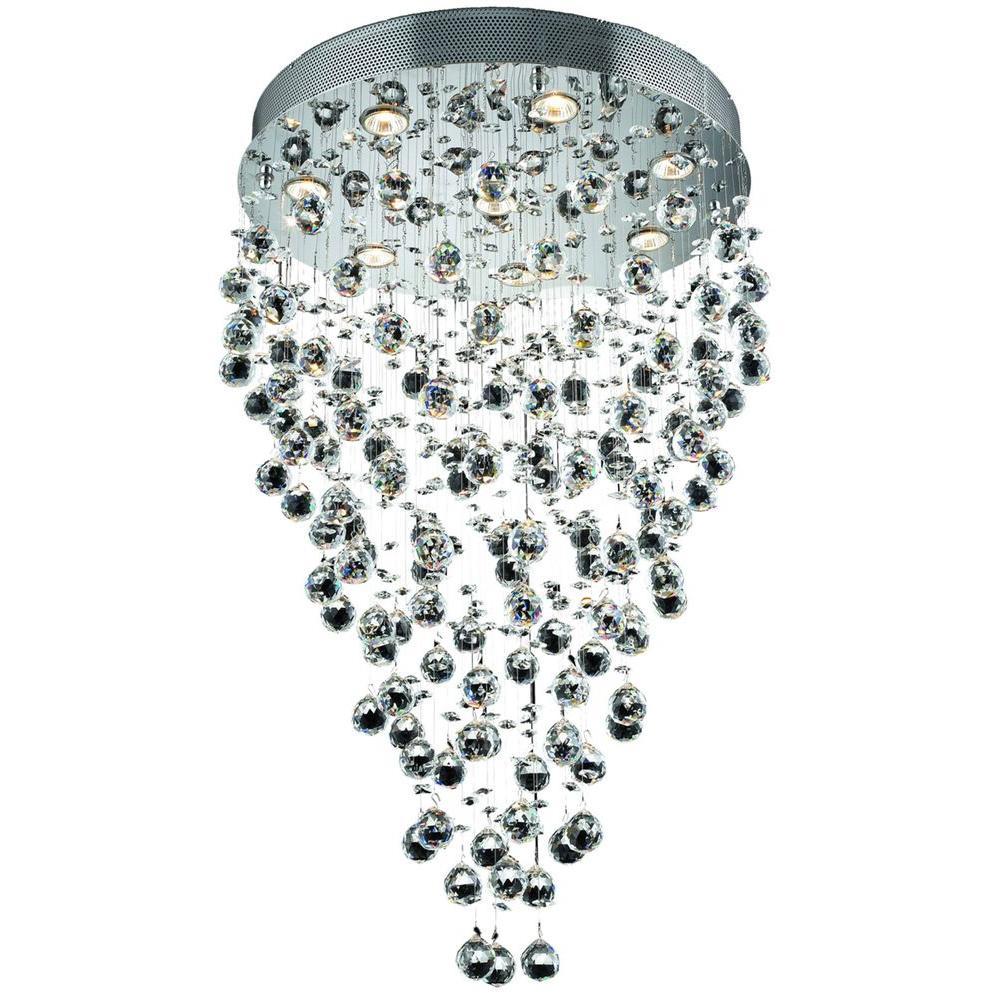 Elegant Lighting 8-Light Chrome Chandelier with Clear Crystal