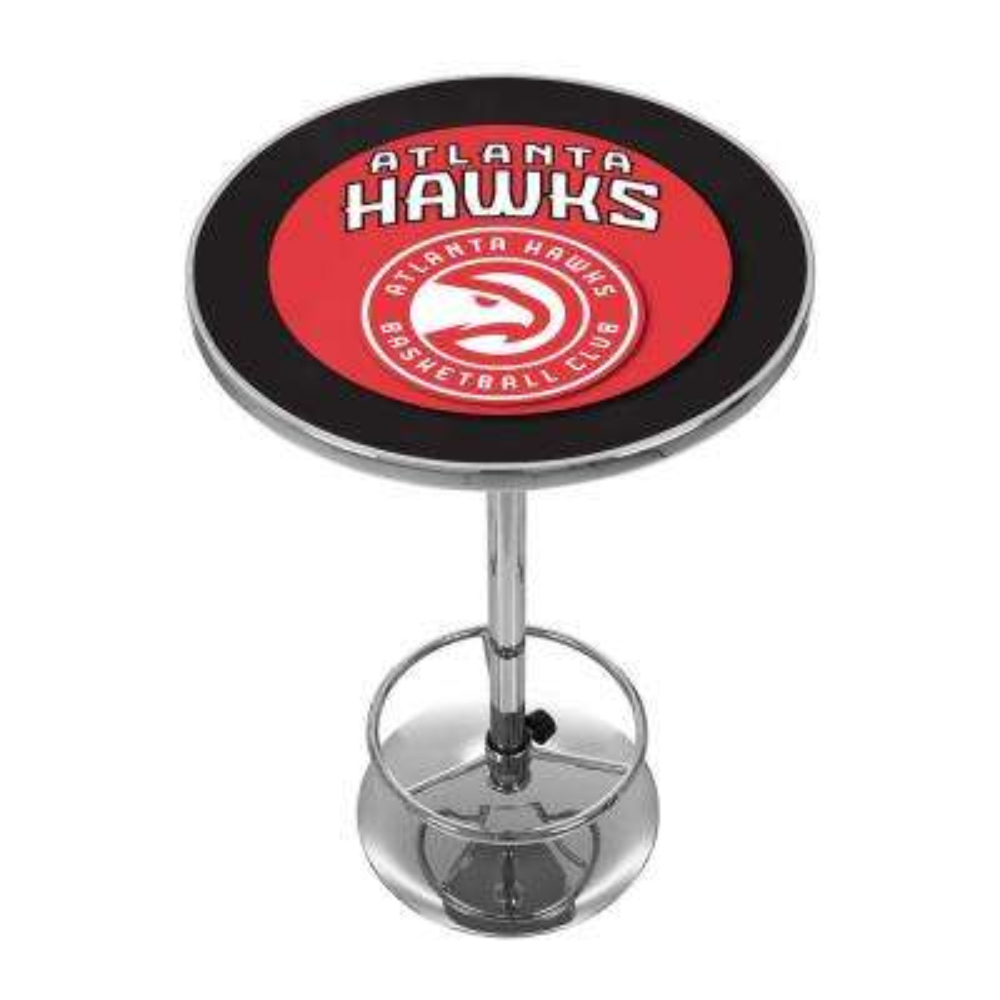NBA Atlanta Hawks Chrome Pub/Bar Table