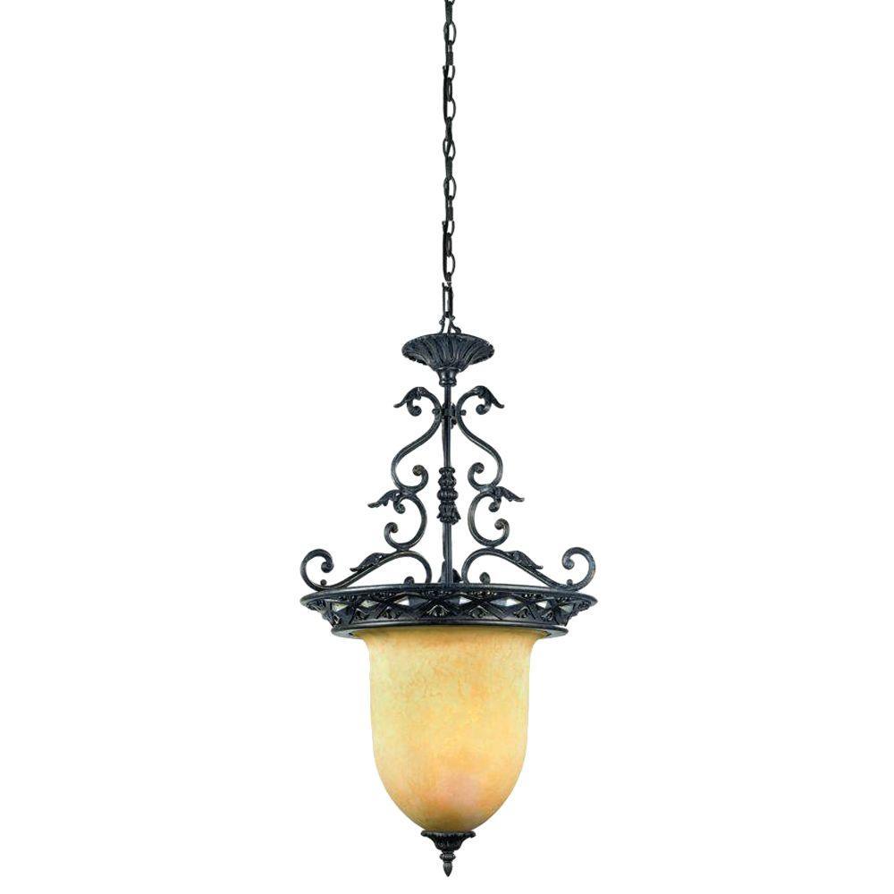 Eurofase Elderon Collection 3-Light Antique Bronze Hanging Large Pendant