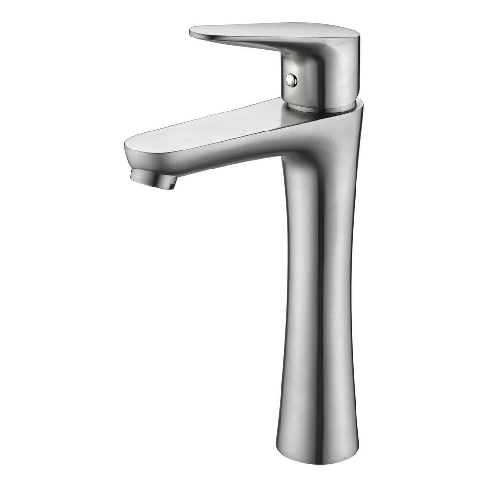 Vivace Single Hole Single-Handle Bathroom Faucet in Brushed Nickel