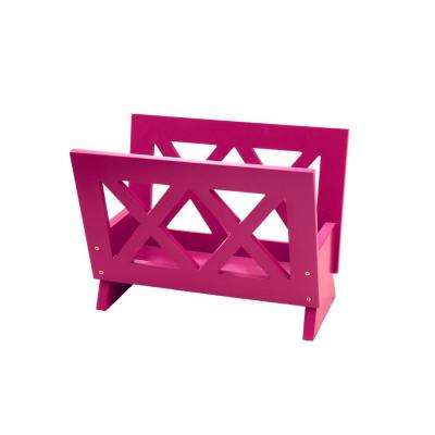 Freestanding Contemporary Magazine Rack in Purple