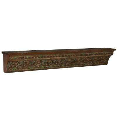 45.25 in. x 7 in. Brown Banana Wall Skin Rack Floating Shelves