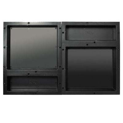 16 in. x 20 in. Quad Niche Set in Black