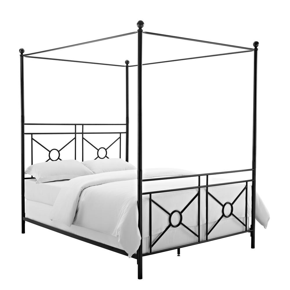 Montgomery Black Queen Canopy Bed
