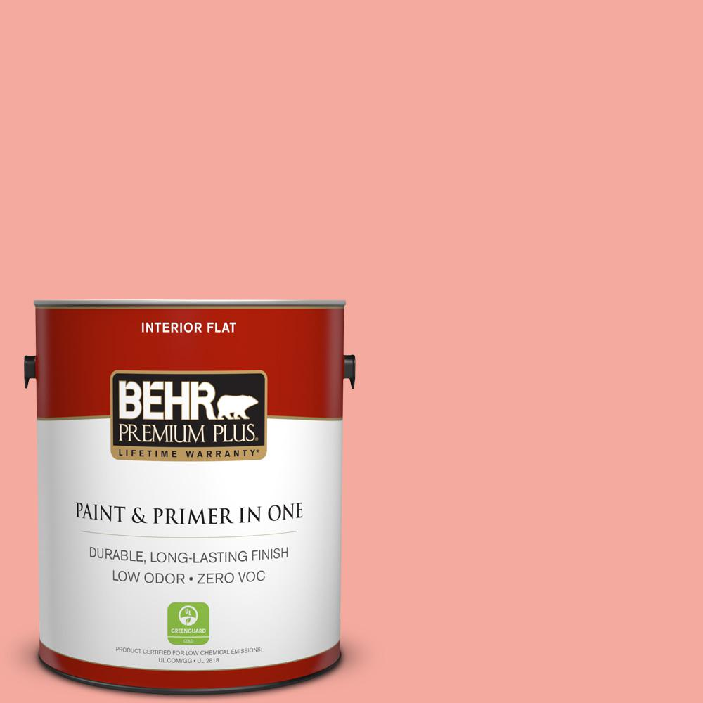BEHR Premium Plus 1-gal. #190D-4 Rosy Outlook Zero VOC Flat Interior Paint