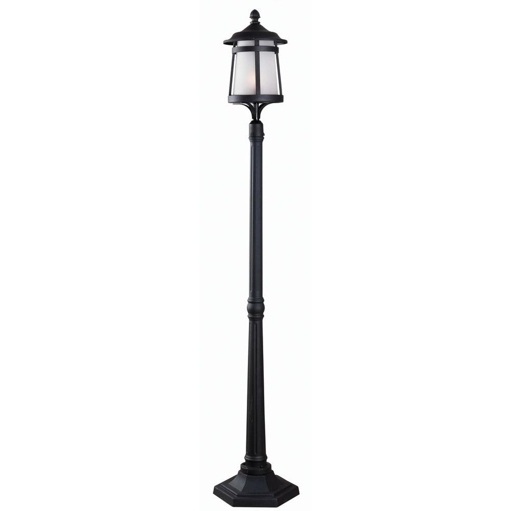 Kenroy Home Portable 1 Light Outdoor Black Post Lantern