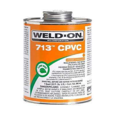 32 oz. CPVC 713 Low VOC Cement in Orange