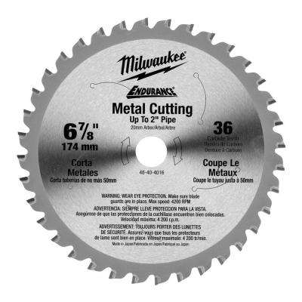 6-7/8 in. x 36 Tooth Ferrous Metal Circular Saw Blade