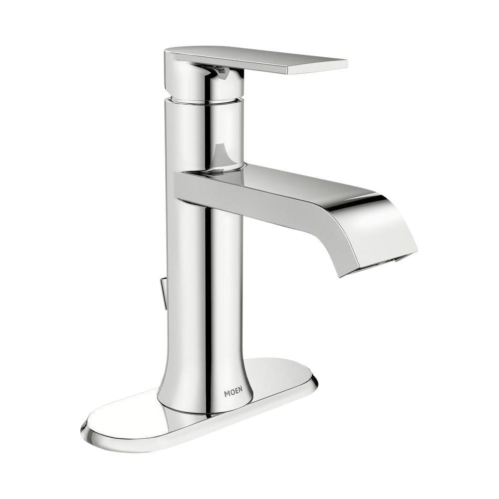 MOEN Genta Single Hole Single Handle Bathroom Faucet in Chrome WS20    The Home Depot
