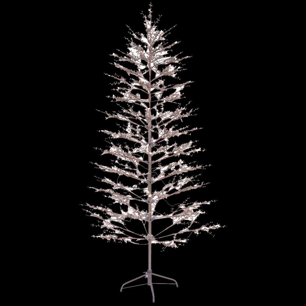 GE 6.5 ft. Brown Winter Berry Branch Tree with C4 Color Choice LED ...