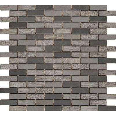 Shale 12 in. x 12 in. x 10mm Natural Basalt Mesh-Mounted Mosaic Tile (10 sq. ft. / case)