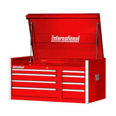 Pro Series 42 in. 8-Drawer Top Chest in Red