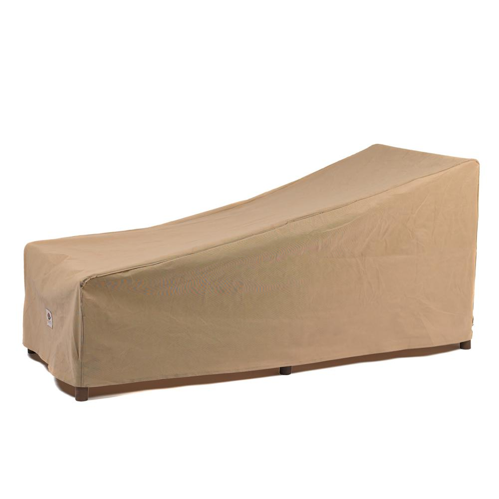Duck Covers Essential 86 in. Tan Patio Chaise Lounge Cover