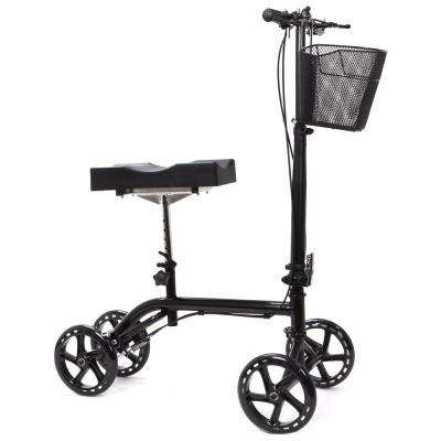 Economy Foldable Steerable Knee Walker Scooter with Dual Brake System