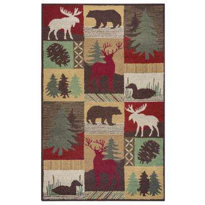 Country Multicolor 3 ft. x 5 ft. Rectangle Area Rug