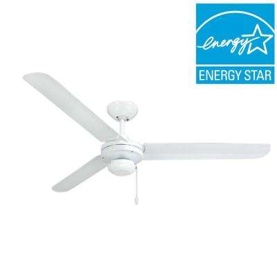 Tornado 56 in. Pure White Indoor/Outdoor Ceiling Fan