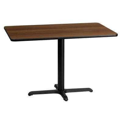 30 in. x 45 in. Rectangular Walnut Laminate Table Top with 22 in. x 30 in. Table Height Base
