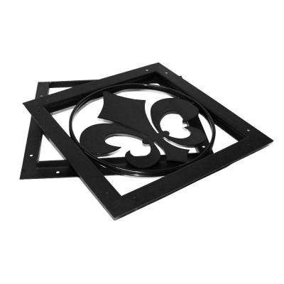 Gate Accent - Fleur-De-Lis in Black