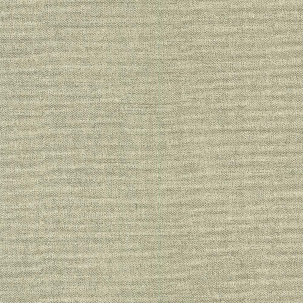 Beyond Basics Poplin Light Green Woven Texture Wallpaper