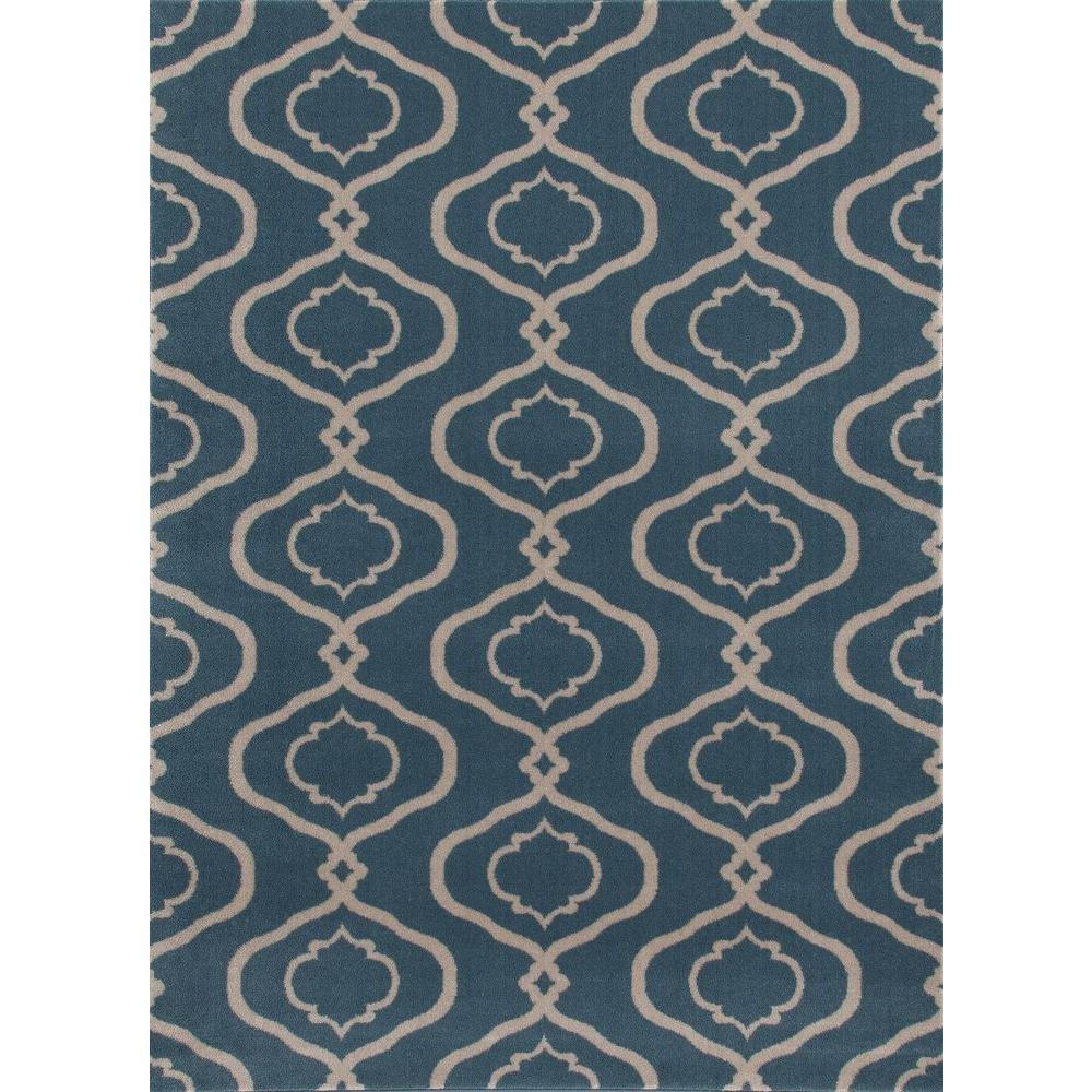 World Rug Gallery Moroccan Trellis Modern Blue 8 Ft. X 10