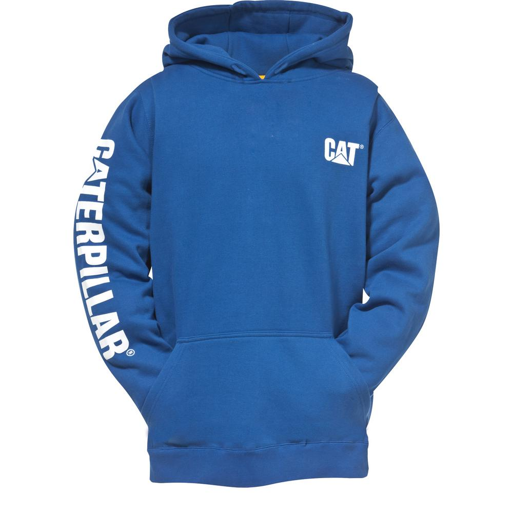 Trademark Banner Men's Large Bright Blue Cotton/Polyester Hooded Sweatshirt