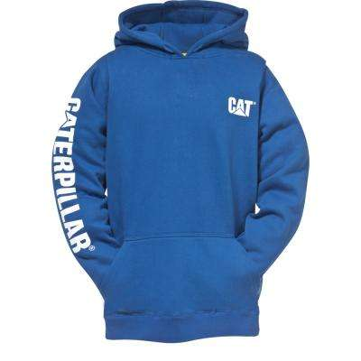 Trademark Banner Men's Tall-Large Bright Blue Cotton/Polyester Hooded Sweatshirt