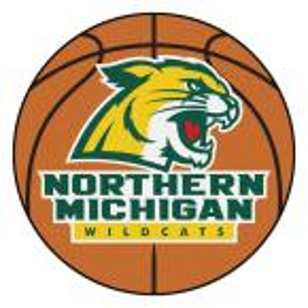 NCAA Northern Michigan University Orange 2 ft. x 2 ft. Round Area Rug