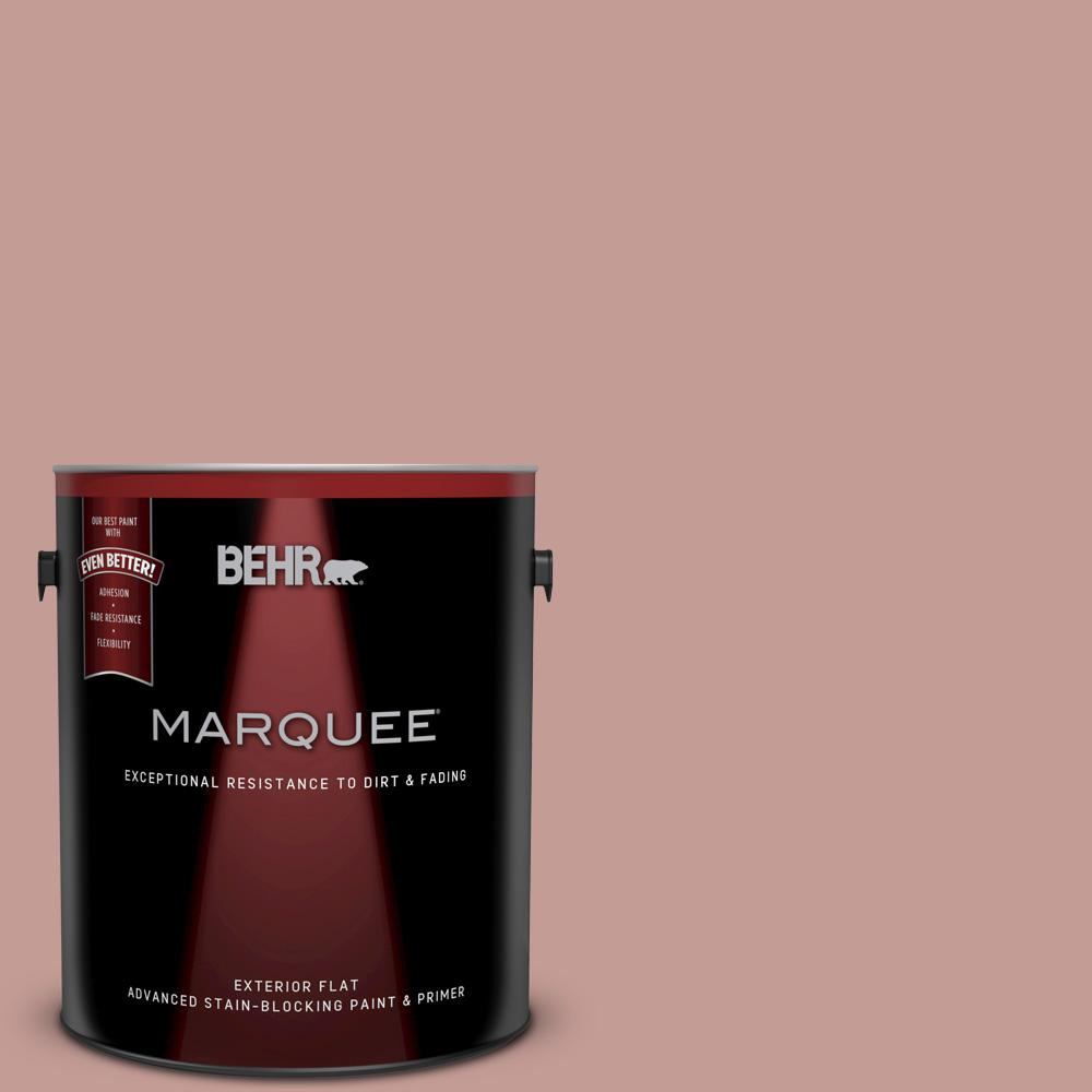BEHR MARQUEE 1-gal. #S170-4 Retro Pink Flat Exterior Paint-445401 ...