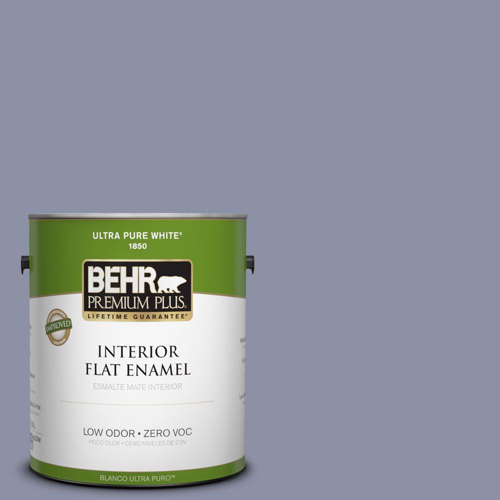 BEHR Premium Plus 1-gal. #620F-4 Violet Shadow Zero VOC Flat Enamel Interior Paint-DISCONTINUED