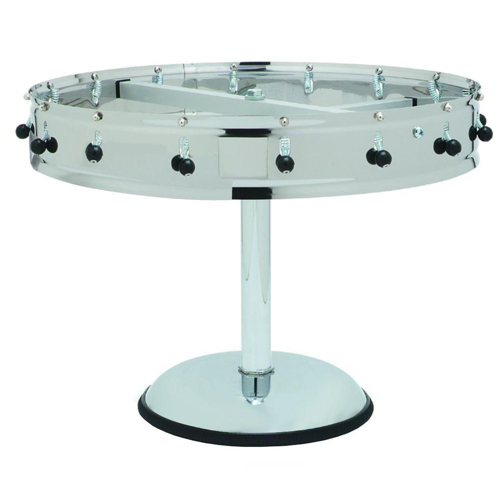 14 in. Diameter Freestanding 12 Clip Portable Order Wheel