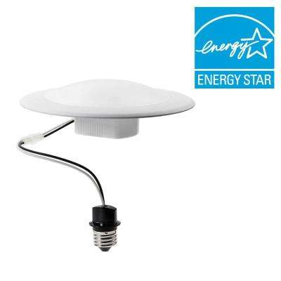 75W Equivalent Soft White BR30 LED Downlight Surface Mounted Fixture (E) (4-Pack)