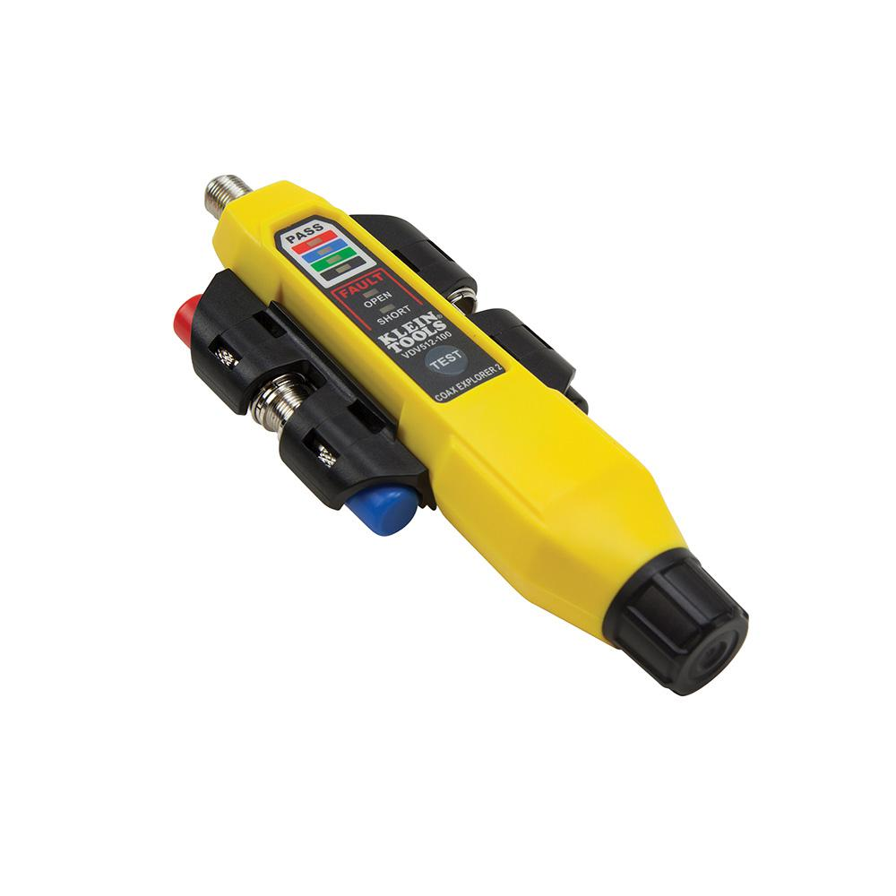 Klein Tools Coax Explorer 2 With Remote Kit Vdv512 101 The Home Depot Coaxial Cable Tester Circuit Electronic Projects Circuits