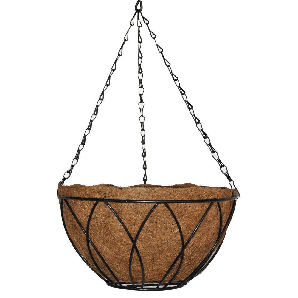 12 in. Devon Hanging Basket with AquaSav Coconut Liner