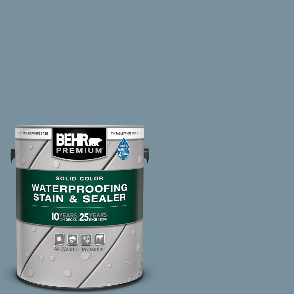 1 gal. #SC-113 Gettysburg Solid Color Waterproofing Exterior Wood Stain and Sealer