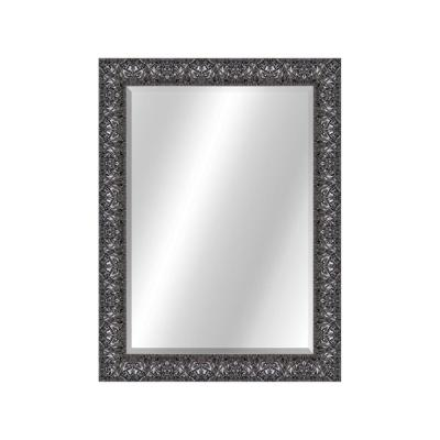 Wrinkled 22 x 28 Contemporary Smoke Framed Vanity Mirror