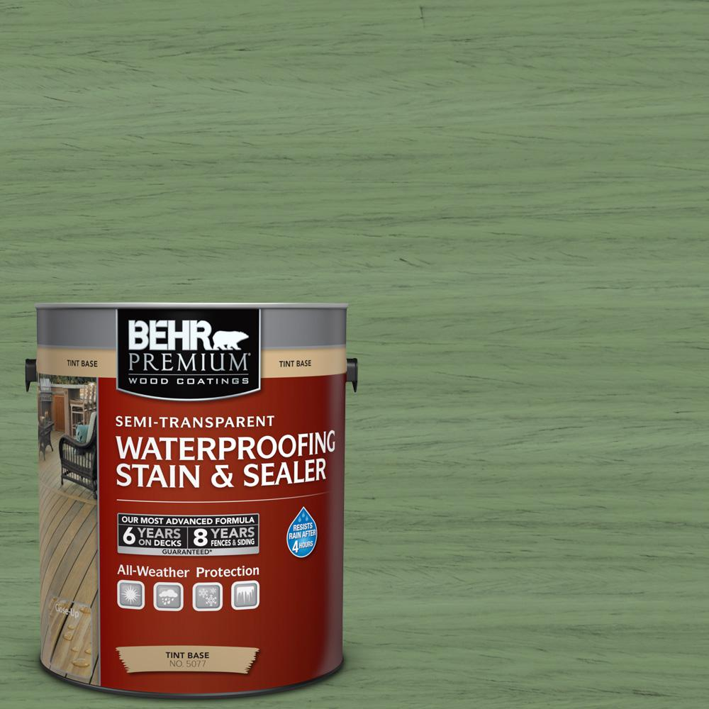 1 gal. #ST-132 Sea Foam Semi-Transparent Waterproofing Exterior Wood Stain and