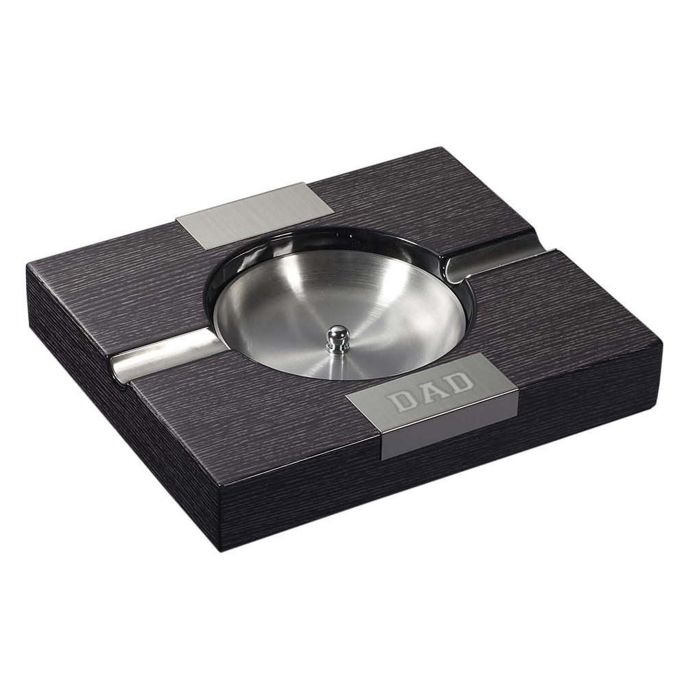 Amari Apricot Wood Finish Cigar Ashtray - Father's Day Edition