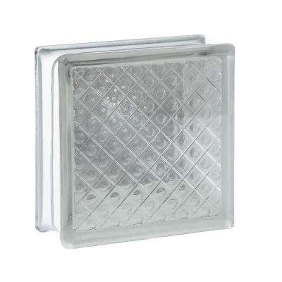 5.75 in. x 5.75 in. x 3.12 in. Diamond Pattern Glass Block (10-Pack)