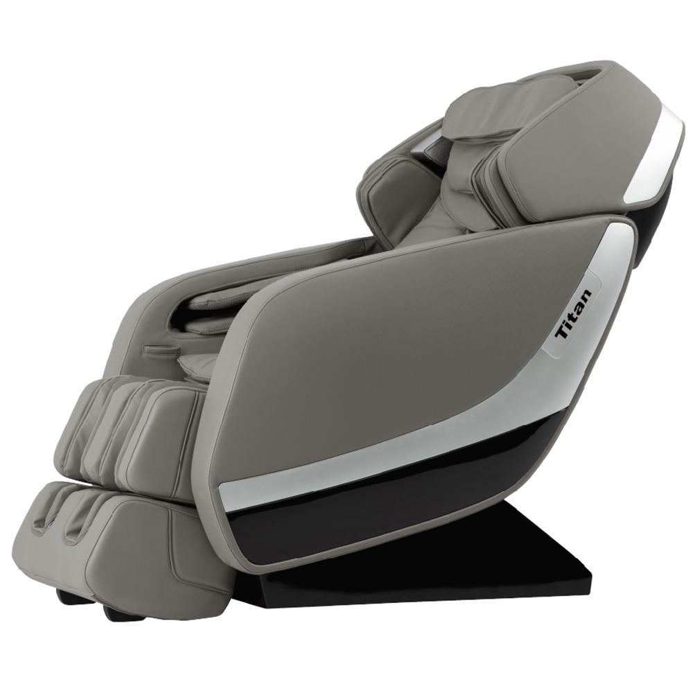 TITAN Pro Jupiter XL Series Grey Faux Leather Reclining Massage Chair With  3D L Track