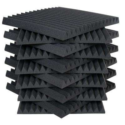 Auralex Studiofoam Wedges - 2 ft. W x 2 ft. L x 2 in. H - Charcoal (Half-Pack: 12 Panels per Box)