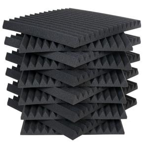 Auralex Studiofoam Wedges 2 Ft W X L In H Charcoal Half Pack 12 Panels Per Box 2sf22cha Hp The Home Depot