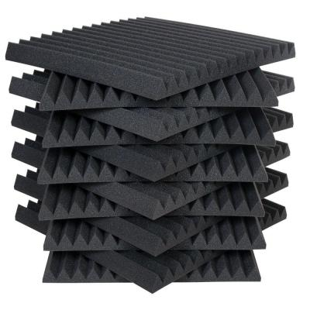 Auralex Studiofoam Wedges - 2 ft. W x 2 ft. L x 2 in. H - Charcoal (Half-Pack: 12 Panels per Box)