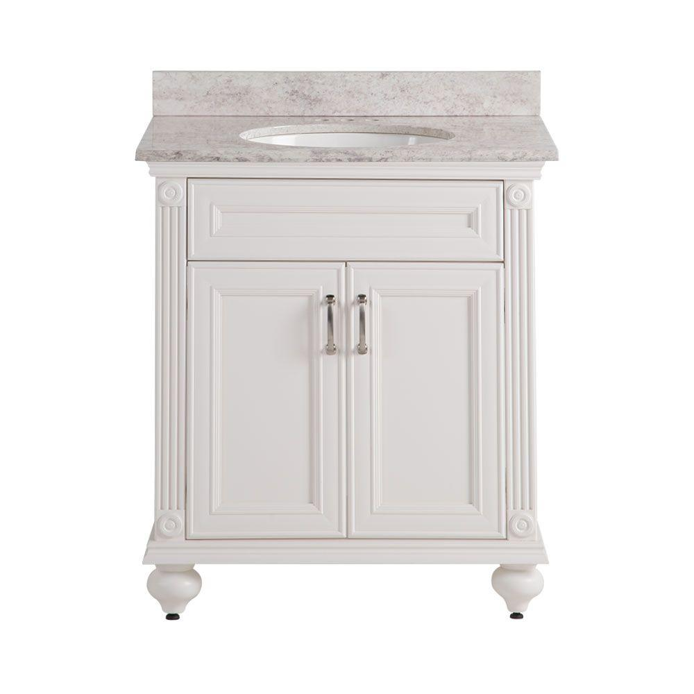 Home Decorators Collection Annakin 31 In W X 22 In D X 38 3 In H Vanity In Cream With Stone
