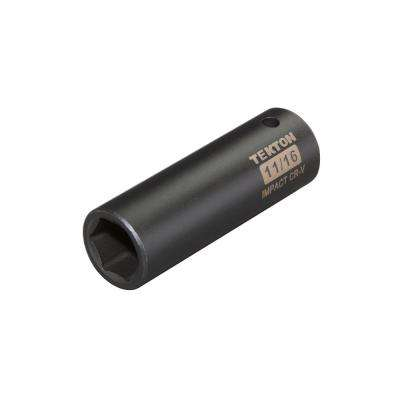 1/2 in. Drive 11/16 in. 6-Point Deep Impact Socket