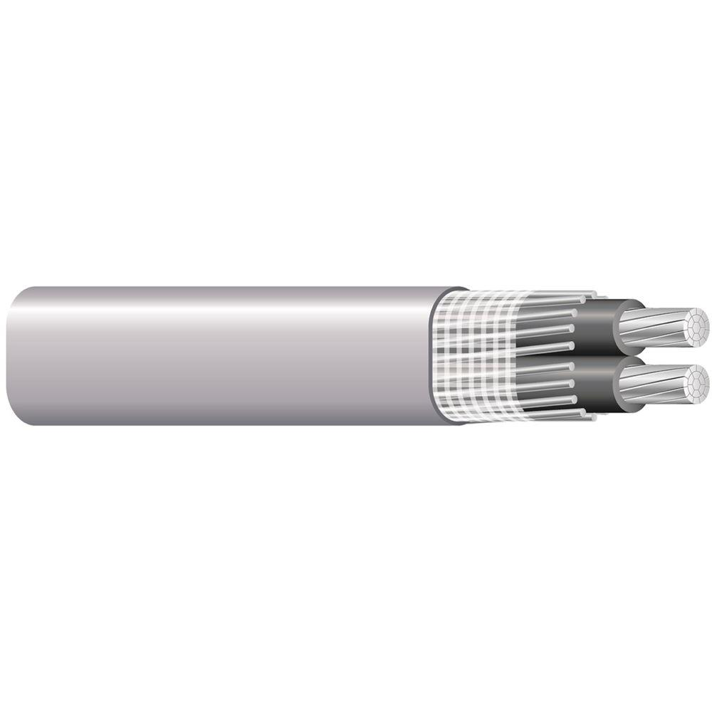 Southwire 250 ft. 6-6-6-6 Gray Stranded AL SER Cable-13099702 - The ...