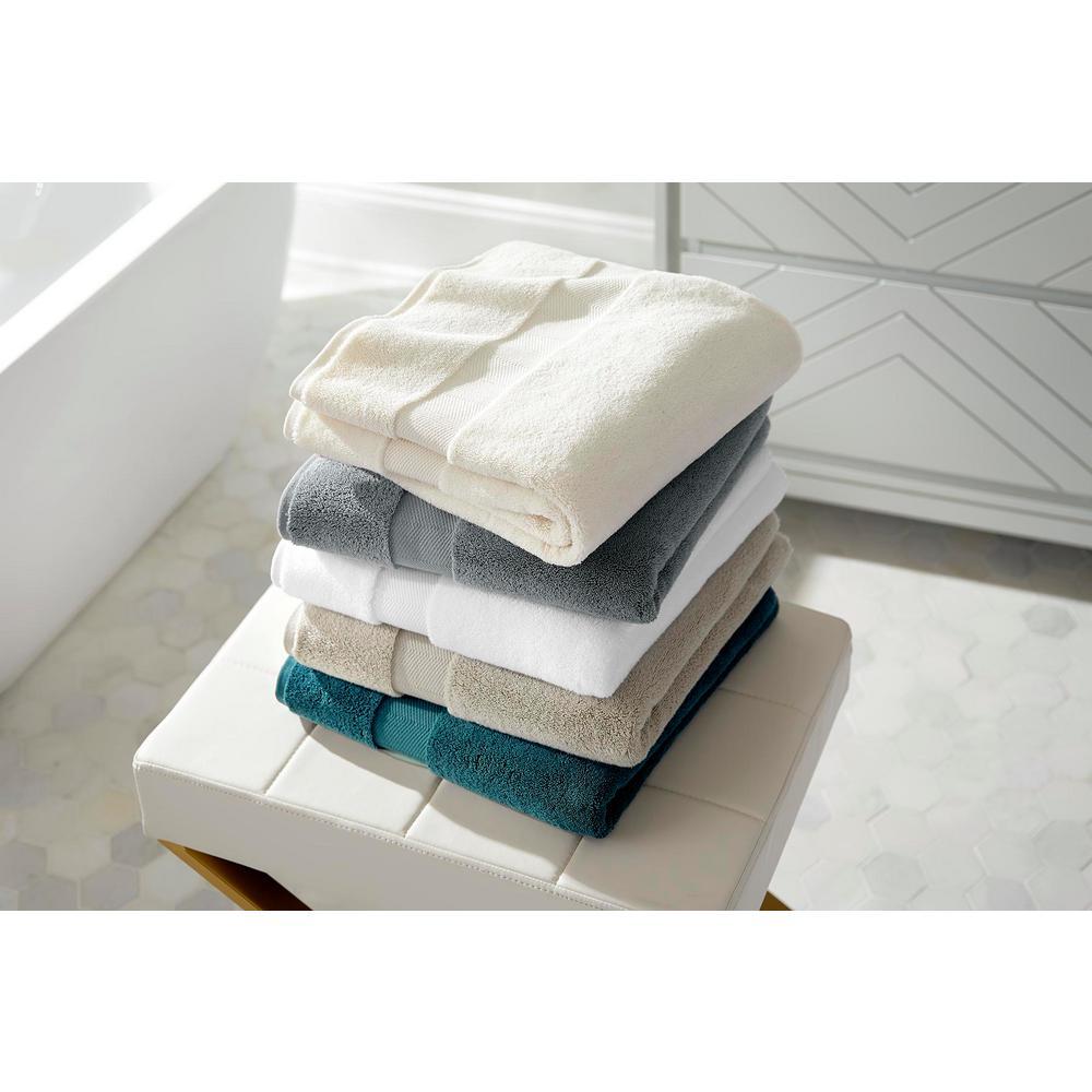 Plush Soft Cotton 6-Piece Towel Set in Stone Gray