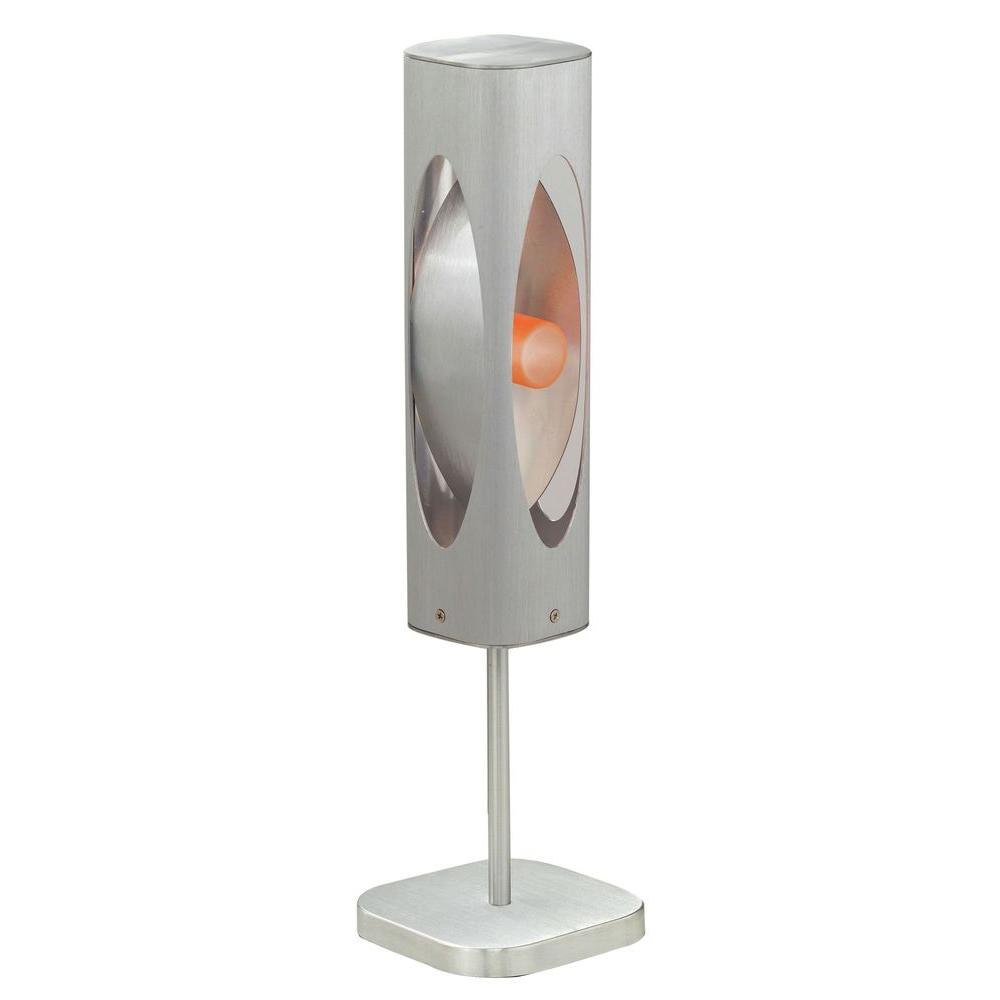Eglo Caiman 20 in. Brushed Aluminum Table Lamp