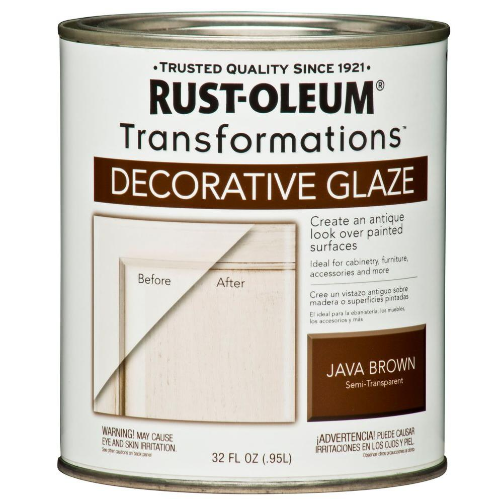 Java Brown Cabinet Decorative Glaze-266227 - The Home Depot - Rust-Oleum Transformations 1 Qt. Java Brown Cabinet Decorative Glaze