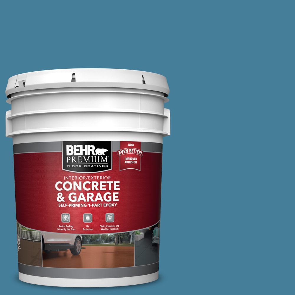 5 gal. #PFC-58 Alpine Sky Self-Priming 1-Part Epoxy Satin Interior/Exterior Concrete and Garage Floor Paint